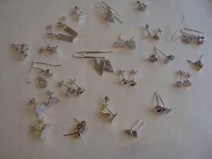 Popular silver earrings, all sold!