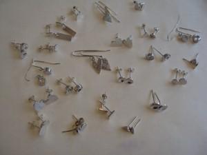 Popular silver earrings, all sold!