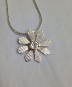 A necklace made for a bride to be