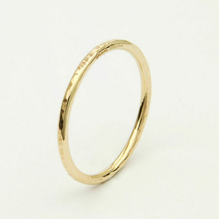 9ct Gold Textured Thin Ring From 163 102 00