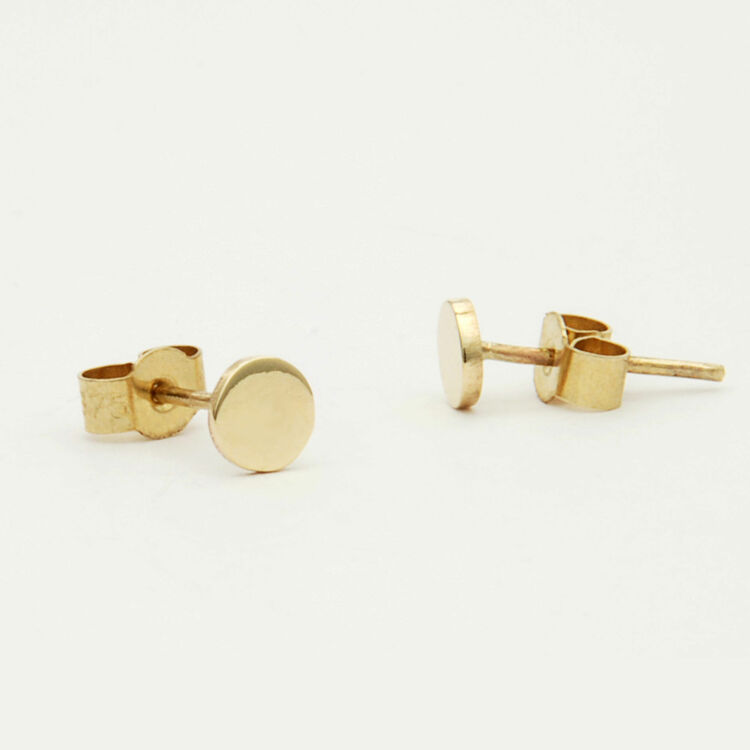 gold home amazon kitchen com dp filled ball earrings round stud