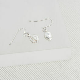 Silver Cowrie Earrings