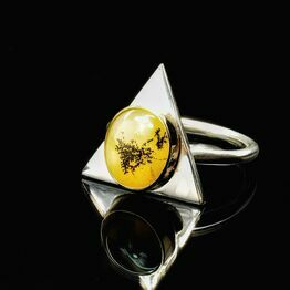 9ct gold and silver ring with Yellow Sapphire