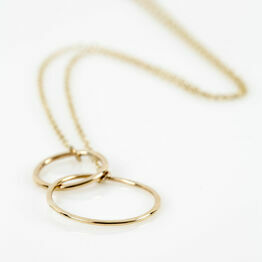 Gold Double Hoop Necklace