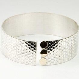 Silver & Gold Dotty Bangle
