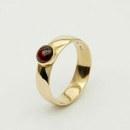Gold Ring with Round Gemstone