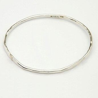 Forged Silver Bangle