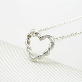 Twisted Heart Necklace