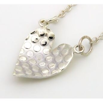 Silver Dotty Heart Pendant