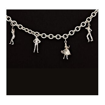 Iconic Collection Silver Charm Bracelet