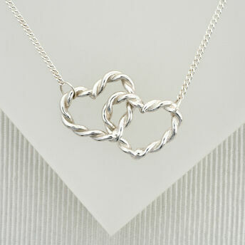 Double Twisted Heart Necklace