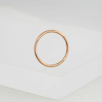 9ct Rose Gold Thin Ring