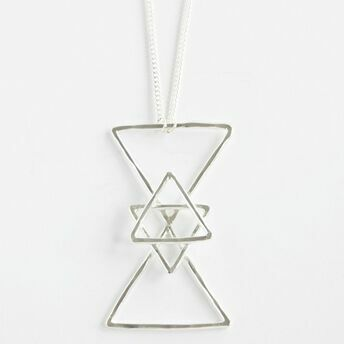 Hourglass Pendant with Star