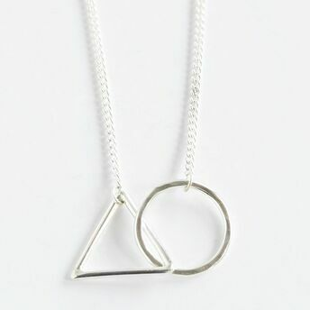 Geometric Hoop and Triangle Necklace