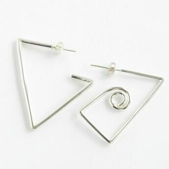 Geometric odd earrings