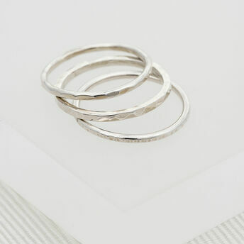 Silver Thin Stacking Ring