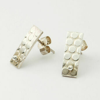 Small Silver Dotty Stud Earrings