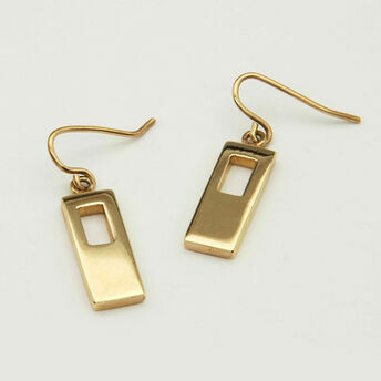 Rectangular Gold Earrings
