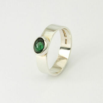 Silver Ring with Oval Stone