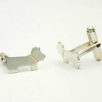 Silver & Gold Scotty Cufflinks