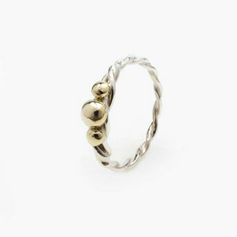 Twisted Ring with Gold Detailing