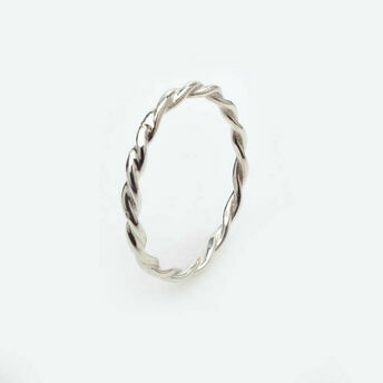 Silver Twisted Ring
