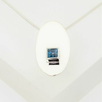 Pendant with Square Stone