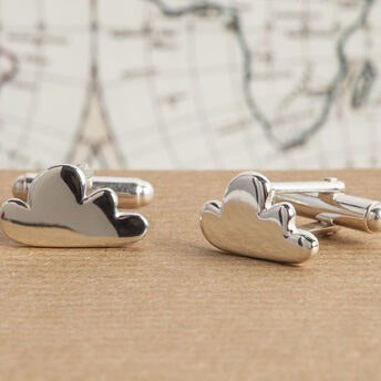 Silver Cloud Cufflinks