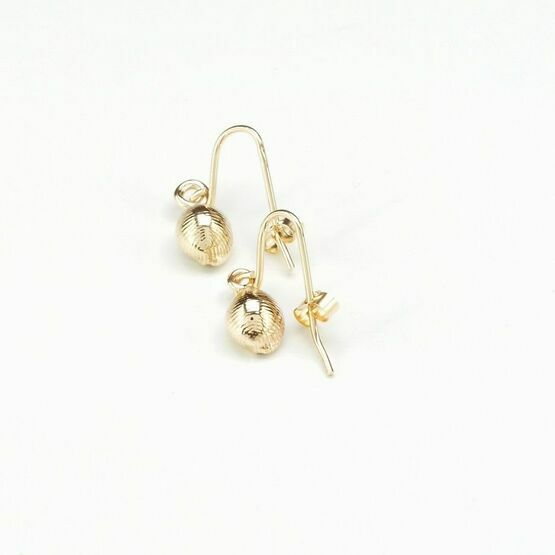 Gold cowrie shell earrings
