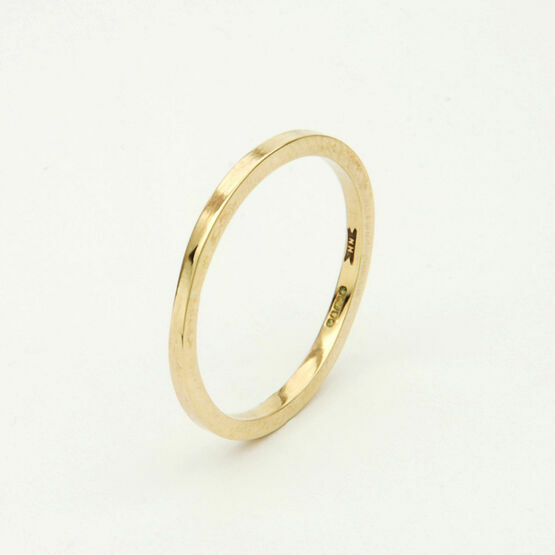 9ct Gold Squared Thin Ring