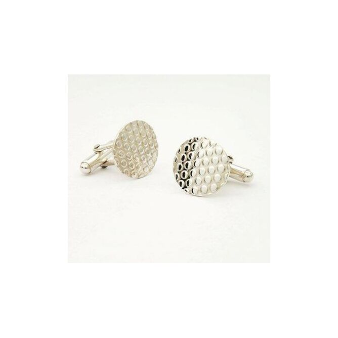 Silver Dotty Oval Cufflinks