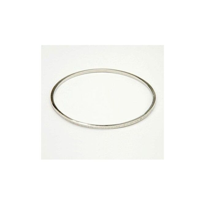 Smooth Silver Textured Bangle