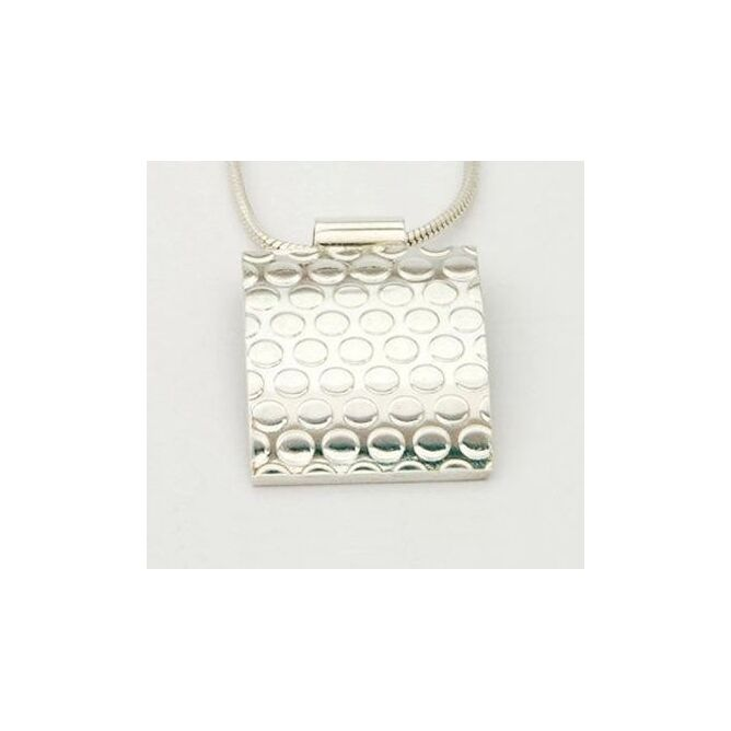 Silver Dotty Square Pendant