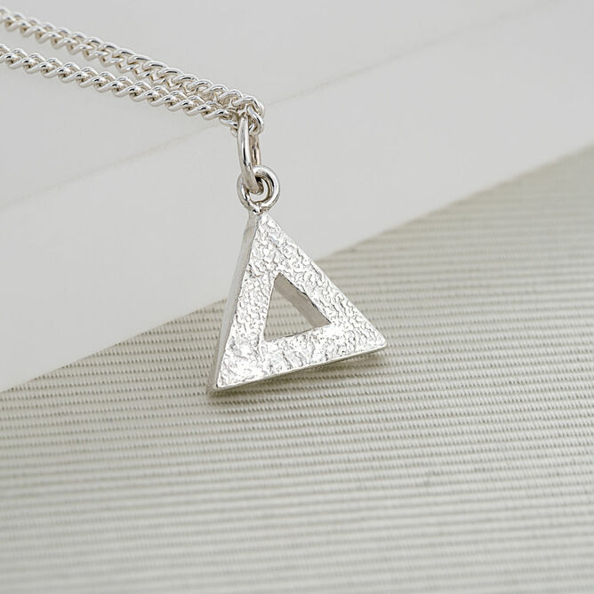 gold alloy metal products silver triangle vintage pendant necklace berazo