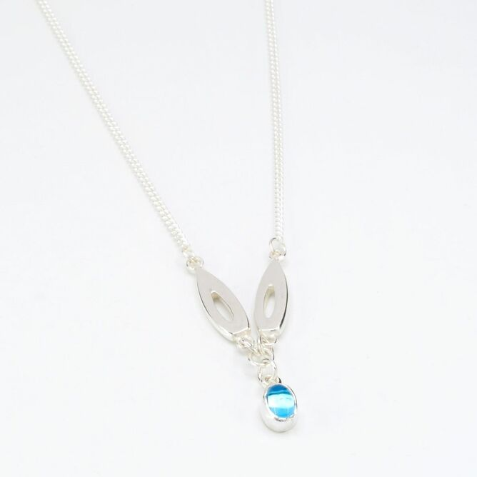 Silver pendant with topaz