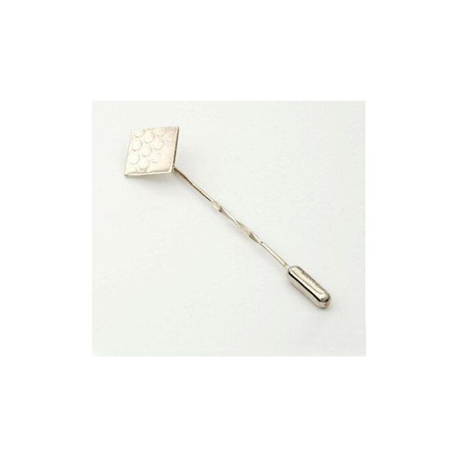 Silver Dotty Square Pin