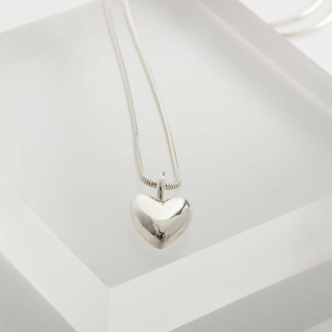 Solid silver heart necklace from 7200 solid silver heart necklace aloadofball
